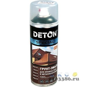 Грунт-эмаль аэрозольная для профнаст.и металлочер. Графитовый серый RAL 7024 DETON SPECIAL 520мл (6)