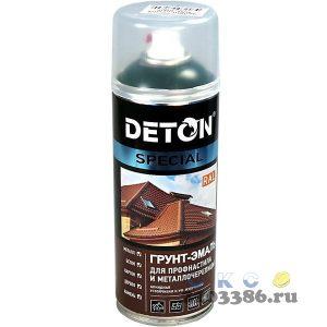 Грунт-эмаль аэрозольная для профнаст.и металлочер. Серый сигнальный RAL 7004 DETON SPECIAL 520мл (6)