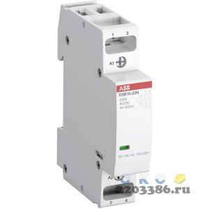 Контактор ESB20-20N-06 модульный (20А АС-1, 2НО), катушка 230В AC/DC