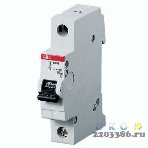 Выключатель автоматический двухполюсный 16А C S202 6кА (S202 C16)