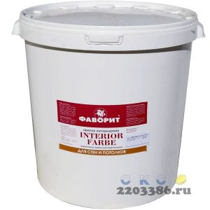 """Краска """"ФАВОРИТ"""" ВДАК 20И-1 для стен и потолков СУПЕРБЕЛАЯ (пласт.ведро по 40 кг) (акриловая водно-дисперсионная краска, повышенной белизны для получе"""