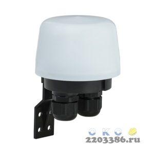 Фотореле ФР604 максимальная мощность нагрузки 3300ВА максимальная мощность 3300вт IP66 белый