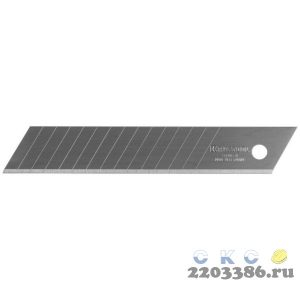 Лезвия сегментированные SOLINGEN, ширина 18 мм, 15 сегментов, пластиковый бокс, 5 шт, KRAFTOOL