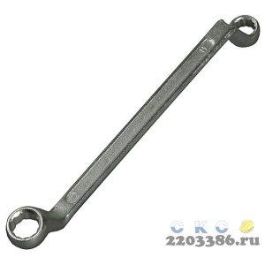 Накидной гаечный ключ изогнутый 18 x 19 мм, STAYER