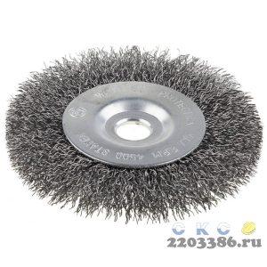 Щетка STAYER дисковая для точильно-шлифовального станка, витая сталь 0,3мм, 200/12,7/16мм