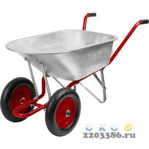 ЗУБР Т-21 тачка садово-строительная двухколесная, 180 кг