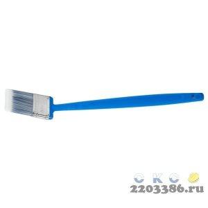 Кисть плоская ЗУБР ЭКСПЕРТ удлиненн 2в1 БСГ-62 быстросъем голова с перем углом, тип АКВА искусств щет, пласт ручка, 38мм