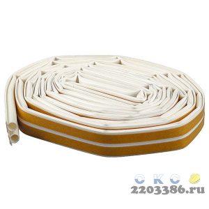 """Уплотнитель ЗУБР силиконовый самоклеящийся профиль """"O"""", белый, 16м"""