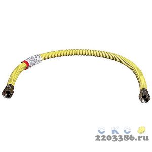 """Подводка-сильфон ЗУБР для газа, нержавеющая сталь, г/г 1/2"""" - 0,6м"""