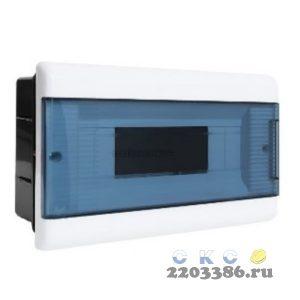 Щит распределительный встраиваемый ЩРв-П-12 IP40 пластиковый с заземляющей шиной прозрачная дверь Тусо