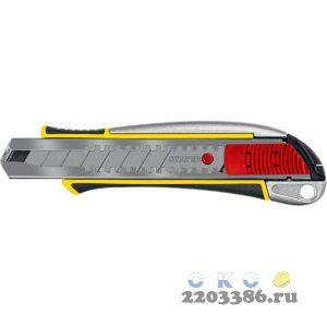 Металлический нож с автостопом KSM-18A, сегмент. лезвия 18 мм, STAYER