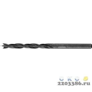 ЗУБР d 3x60/30мм, спиральное сверло по дереву , М-образная заточка