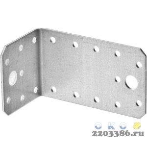 Уголок крепежный асимметричный, 55х50х90 х 2мм, 20шт, ЗУБР