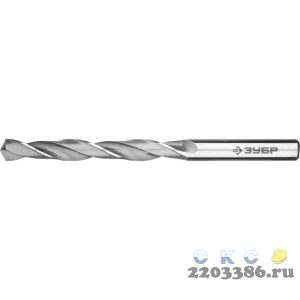 ЗУБР ПРОФ-В 6.6х101мм, Сверло по металлу, сталь Р6М5, класс В