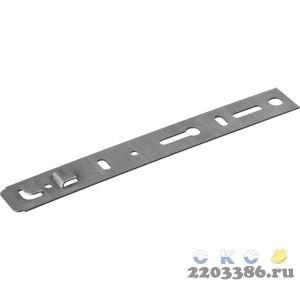 Пластина оконная ПО, 190х25 х 1.2 мм для профиля KBE, VEKA 70мм, ЗУБР